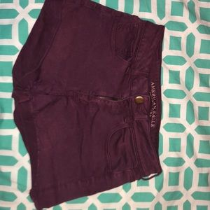 Maroon American Eagle Jean Shorts